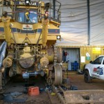 CAT D11 rear frame repair