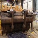 Komatsu PC 1100 bucket repair