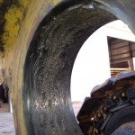 Komatsu PC 1600 Main lift cylinder repair before